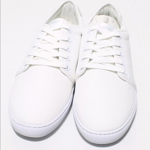 info for 081e2 a4f5f Wesc canvas sneakers white Brand New shoes  Boutique
